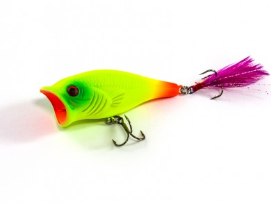 воблер /FISH LURE/ Bait Plus 65мм 9,6гр. загл.0м color-22 поппер 51300-115